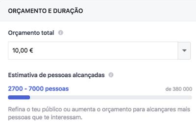 Definir orçamento de campanhas para facebook