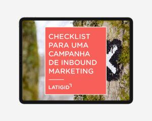 Checklist para campanha de inbound marketing