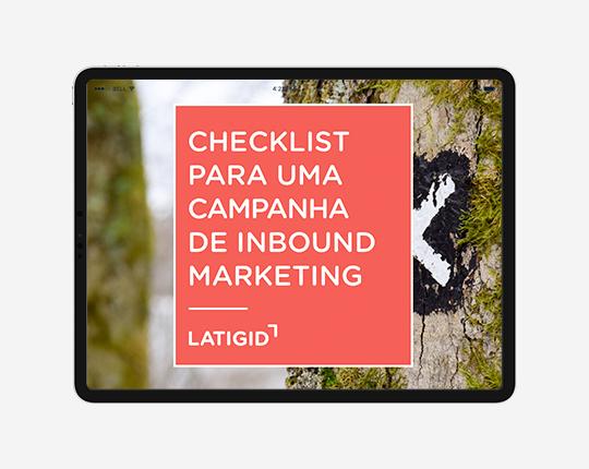 Checklist campanha Inbound marketing