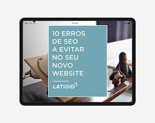 Erros de SEO que deve evitar websites